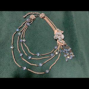 Original by Robert Iridescent blue necklace